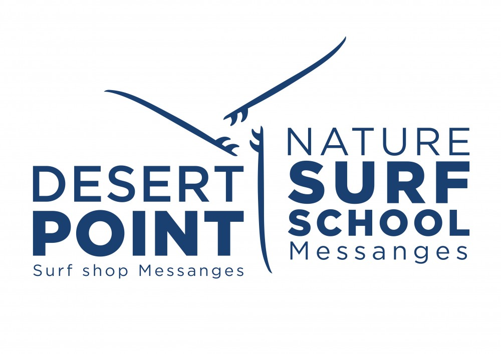 logo desert point nature surf school