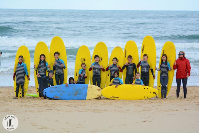 ecole de surf pour groupe scolaire ou centre de loisir
