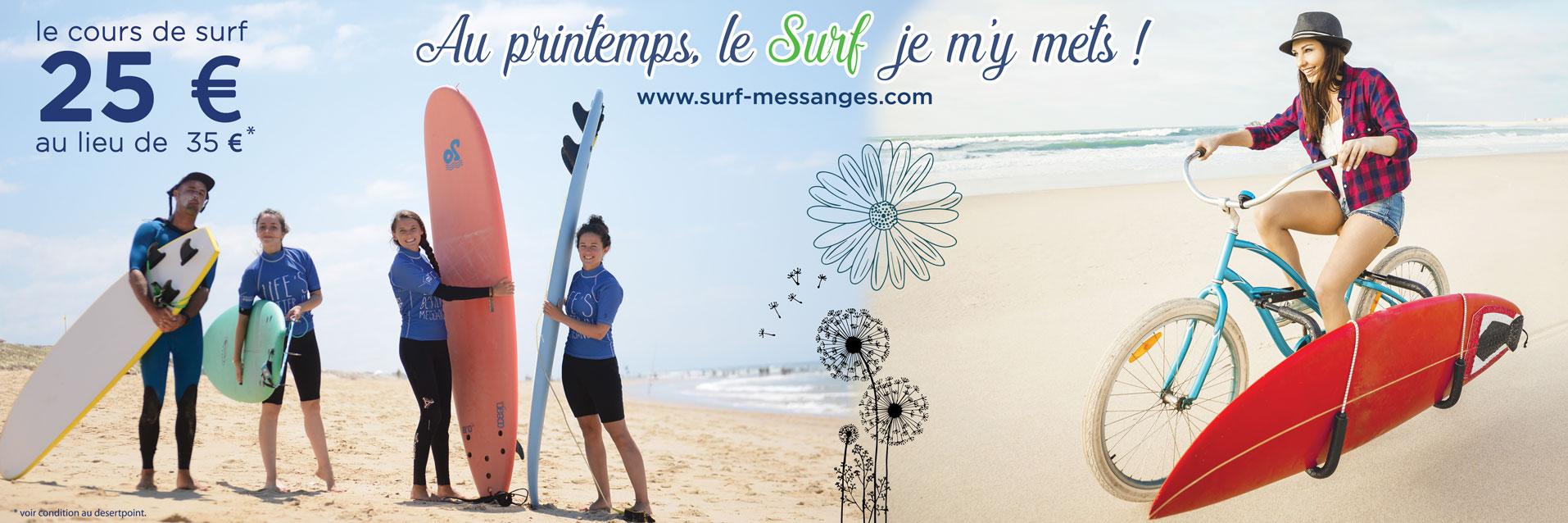 Au printemps, le Surf je m'y mets du 01 avril  au 30 juin 2021