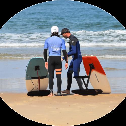 test le matériel de foil surf au foil center